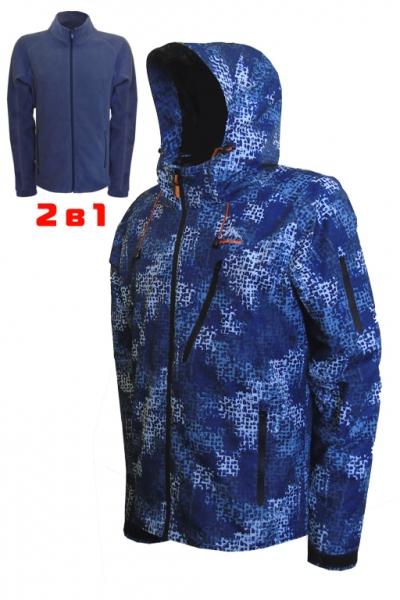 Модель 6831 (2в1) принт - синий